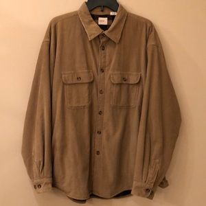 Arrow men's tan corduroy/flannel shirt/jacket XL